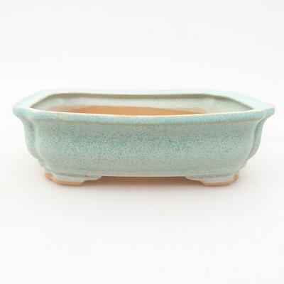 Keramische Bonsai-Schale 13 x 9,5 x 3,5 cm, Farbe grün - 1
