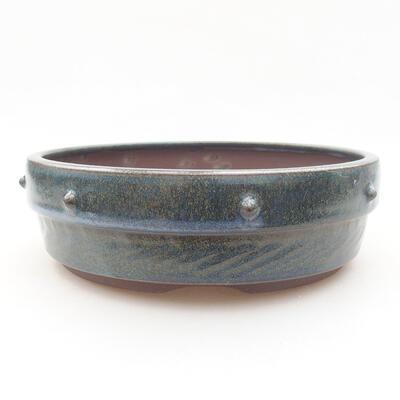 Keramische Bonsai-Schale 18 x 18 x 5,5 cm, Farbe blau - 1