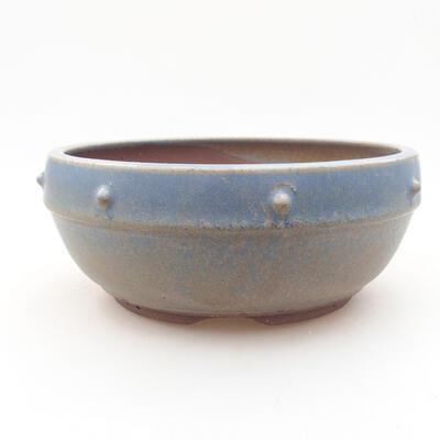 Keramische Bonsai-Schale 17 x 17 x 7 cm, Farbe blau - 1
