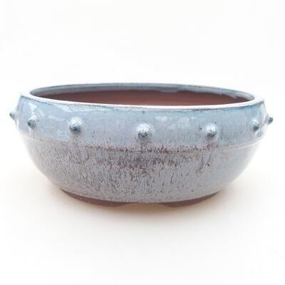 Keramische Bonsai-Schale 17,5 x 17,5 x 7 cm, Farbe blau - 1