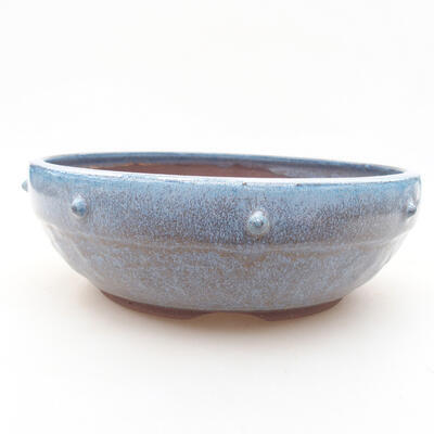 Keramische Bonsai-Schale 18,5 x 18,5 x 6 cm, Farbe blau - 1