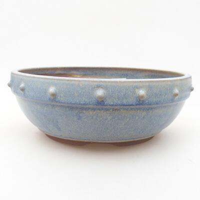 Keramische Bonsai-Schale 21 x 21 x 7 cm, Farbe blau - 1