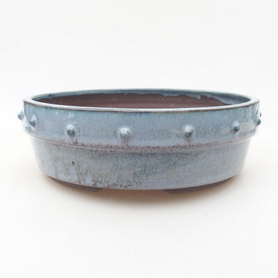 Keramische Bonsai-Schale 19,5 x 19,5 x 6,5 cm, Farbe blau - 1