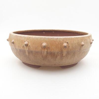 Keramische Bonsai-Schale 18 x 18 x 6,5 cm, beige Farbe - 1