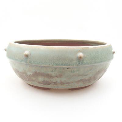 Keramische Bonsai-Schale 17 x 17 x 7 cm, Farbe grün - 1