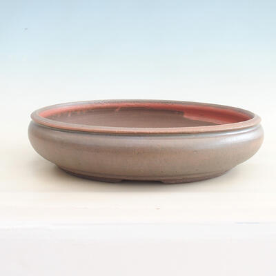 Keramische Bonsai-Schale 37 x 37 x 9 cm, Farbe braun-grün - 1