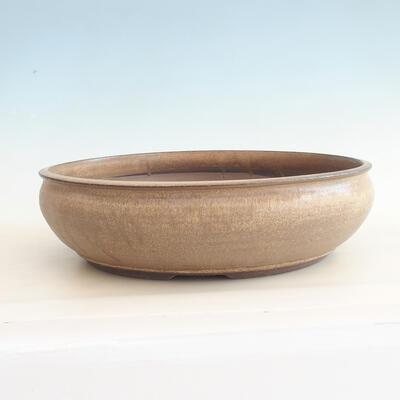 Keramische Bonsai-Schale 37,5 x 37,5 x 10,5 cm, braune Farbe - 1
