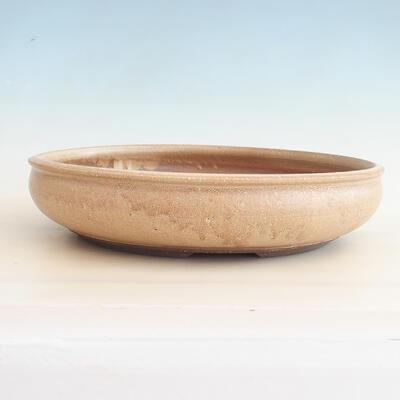 Keramische Bonsai-Schale 37,5 x 37,5 x 9 cm, beige Farbe - 1
