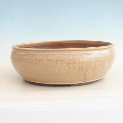 Bonsai-Keramikschale 37 x 37 x 12,5 cm, beige Farbe - 1