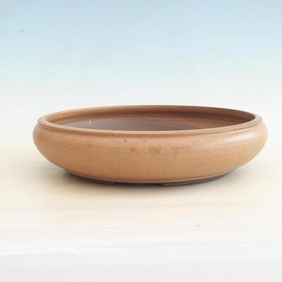 Keramische Bonsai-Schale 34 x 34 x 8,5 cm, braune Farbe - 1