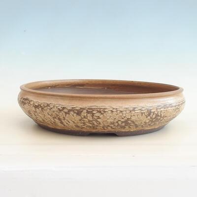 Keramische Bonsai-Schale 37 x 37 x 9 cm, beige Farbe - 1