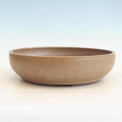 Keramische Bonsai-Schale 37 x 37 x 10 cm, Farbe braun - 1
