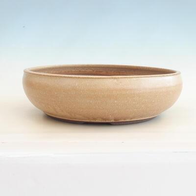 Keramische Bonsai-Schale 39 x 39 x 11 cm, Farbe beige - 1