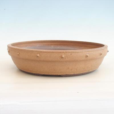 Keramische Bonsai-Schale 33,5 x 33,5 x 8 cm, beige Farbe - 1