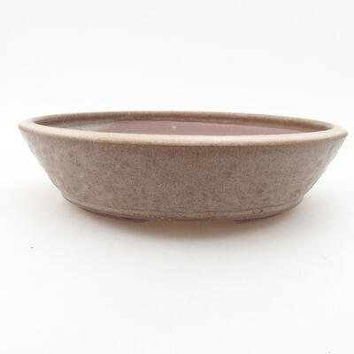 Keramische Bonsai-Schale 21 x 21 x 5 cm, Farbe braun - 1