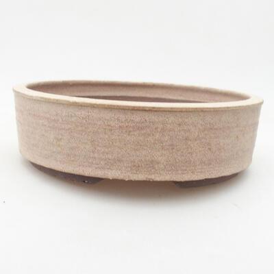 Keramik Bonsai Schüssel 20 x 20 x 6 cm, beige Farbe - 1