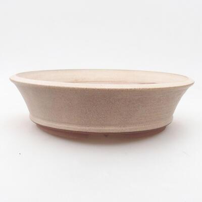 Keramische Bonsai-Schale 20,5 x 20,5 x 5,5 cm, beige Farbe - 1