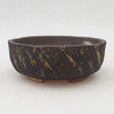 Keramische Bonsai-Schale 17 x 17 x 5,5 cm, rissige Farbe - 1