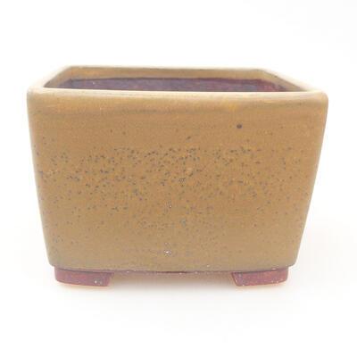 Keramische Bonsai-Schale 12 x 12 x 8 cm, Farbe braun - 1
