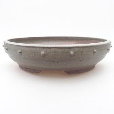 Keramische Bonsai-Schale 24 x 24 x 6 cm, Farbe blau - 1