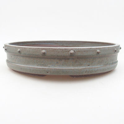 Keramische Bonsai-Schale 26,5 x 26,5 x 5,5 cm, graue Farbe - 1