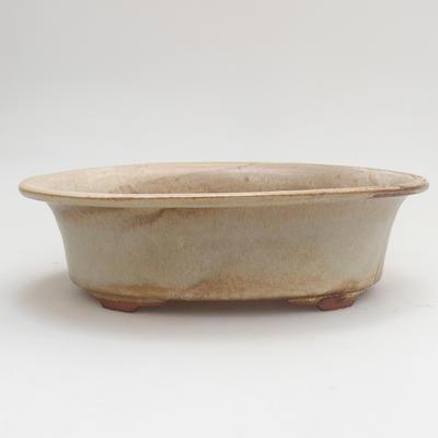 Keramik Bonsai Schüssel 22 x 17 x 6 cm, Farbe beige - 1