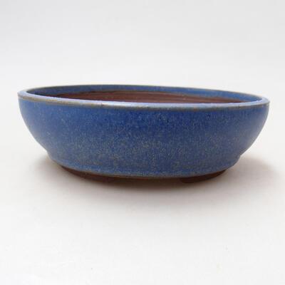 Bonsaischale aus Keramik 14,5 x 14,5 x 4,5 cm, Farbe blau - 1