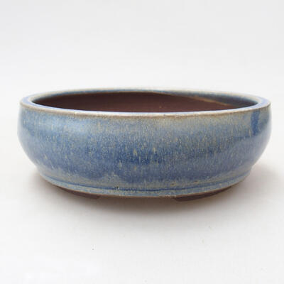 Bonsaischale aus Keramik 14,5 x 14,5 x 5 cm, Farbe blau - 1