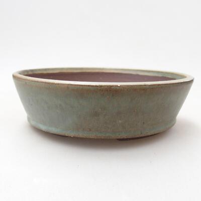 Bonsaischale aus Keramik 16 x 16 x 4,5 cm, Farbe grün - 1