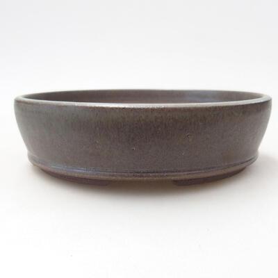 Bonsaischale aus Keramik 15 x 15 x 4 cm, Farbe grün - 1