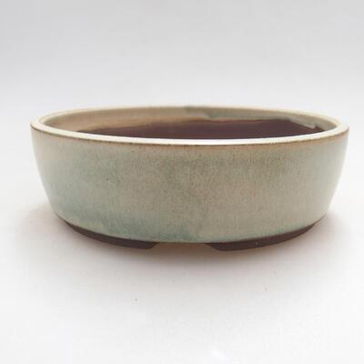 Bonsaischale aus Keramik 15,5 x 15,5 x 5 cm, Farbe beige - 1