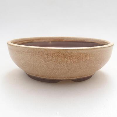 Bonsaischale aus Keramik 15 x 15 x 5 cm, Farbe beige - 1