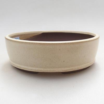 Bonsaischale aus Keramik 15 x 15 x 4,5 cm, Farbe beige - 1