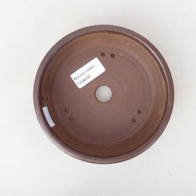 Bonsaischale aus Keramik 14,5 x 14,5 x 4,5 cm, Farbe braun - 1