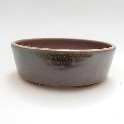 Bonsaischale aus Keramik 13,5 x 13,5 x 4,5 cm, Farbe grün - 1