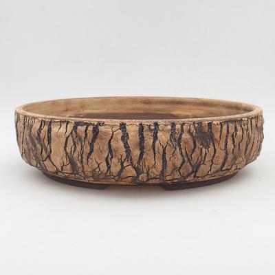 Keramik Bonsai Schüssel 32 x 32 x 8 cm, Farbe rissig - 1
