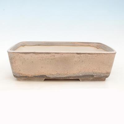 Bonsai-Schale 38 x 27 x 11 cm, grau-beige Farbe - 1