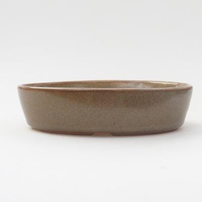 Keramik Bonsai Schüssel 16 x 11 x 4 cm, braune Farbe - 1