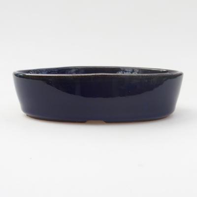 Bonsaischale aus Keramik 16 x 11 x 4 cm, Farbe blau - 1