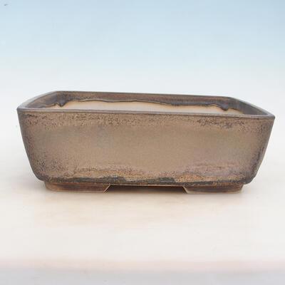 Bonsai-Schale 30 x 23 x 10 cm, grau-beige Farbe - 1