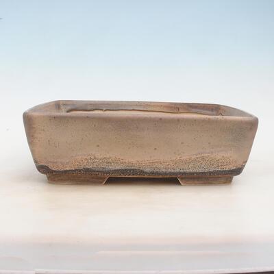 Bonsai-Schale 30 x 23 x 9 cm, grau-beige Farbe - 1