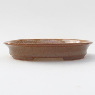 Keramik Bonsai Schüssel 12,5 x 11 x 2 cm, braune Farbe - 1
