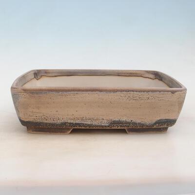 Bonsai-Schale 30 x 22 x 8 cm, grau-beige Farbe - 1