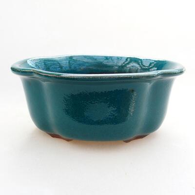 Bonsaischale aus Keramik 13 x 11 x 5,5 cm, Farbe grün - 1