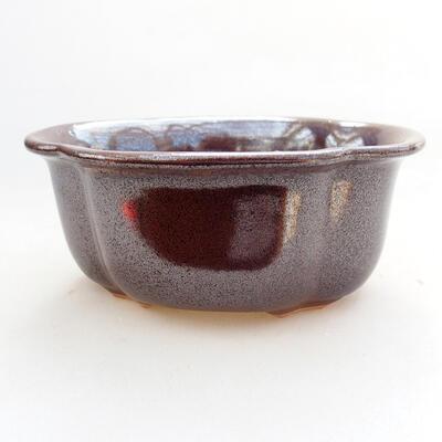 Bonsaischale aus Keramik 13 x 11 x 5,5 cm, braune Farbe - 1