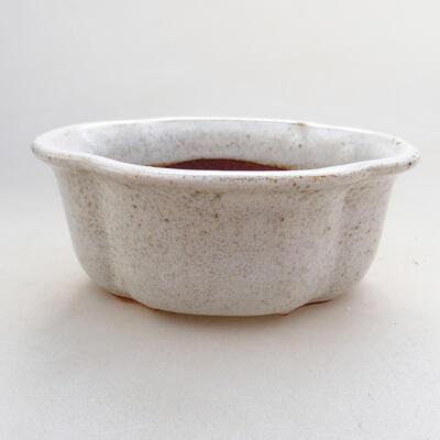 Bonsaischale aus Keramik 13 x 11 x 5,5 cm, weiße Farbe - 1