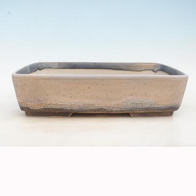 Bonsai-Schale 37 x 26 x 9,5 cm, grau-beige Farbe - 1