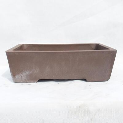 Bonsaischale 41 x 29 x 12 cm, graue Farbe - 1