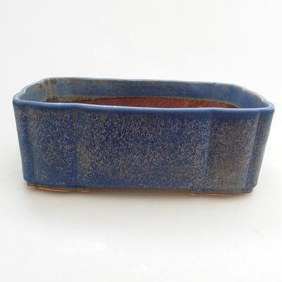 Bonsaischale aus Keramik 20,5 x 17 x 7 cm, Farbe blau - 1