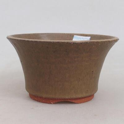 Bonsaischale aus Keramik 12 x 12 x 6,5 cm, Farbe braun - 1